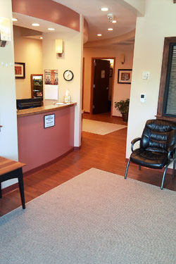 Reception of River Ridge Chiropractic Office